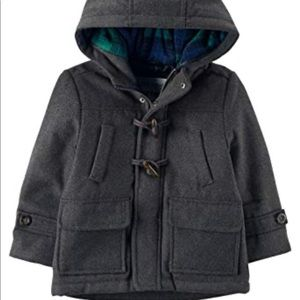 NWOT Carters Hooded Pea Coat